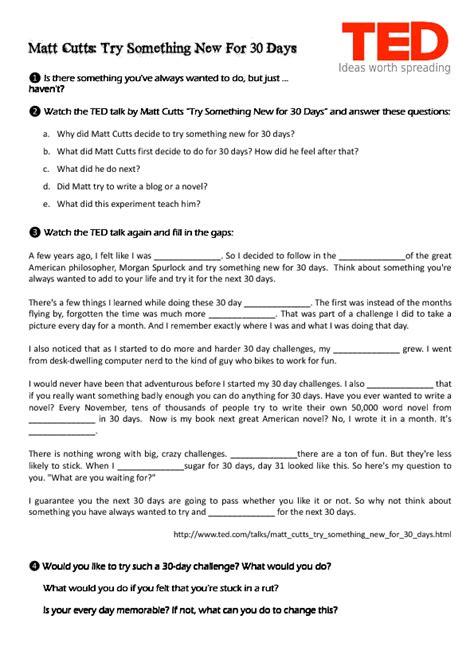 ted talk worksheet answers ted talk worksheet khafre