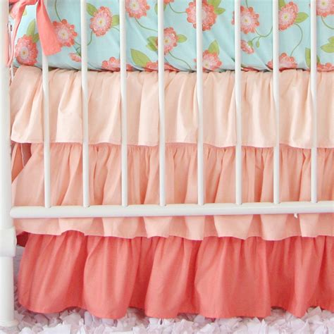 coral bed skirt coral ruffle bed skirt caden lane