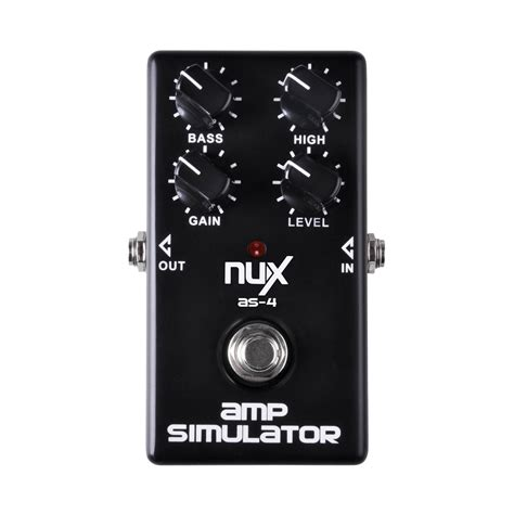 Nux Simulator As 4 nux as 4 lifier simulator guitar effects pedal at gear4music