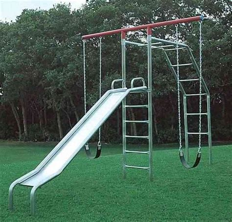 metal swing sets with monkey bars swings metal swing sets kids swingset playsets