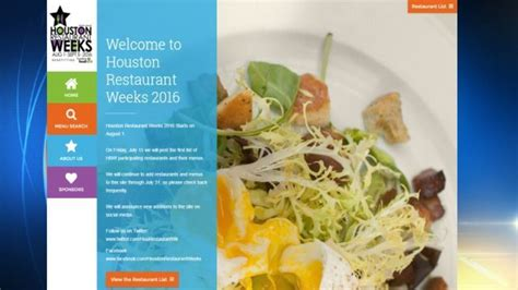 map of houston restaurant week houston restaurant weeks 2016 restaurants revealed