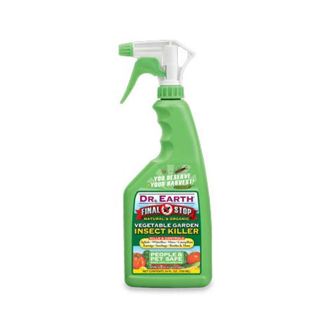Dr Earth Final Stop Vegetable Garden Insect Killer Spray Vegetable Garden Killer