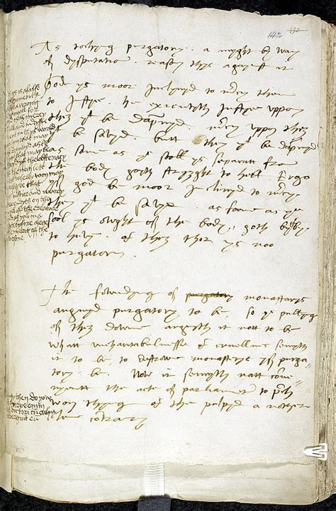 tudor writing paper bishop of worcester s writing on purgatory with notes by