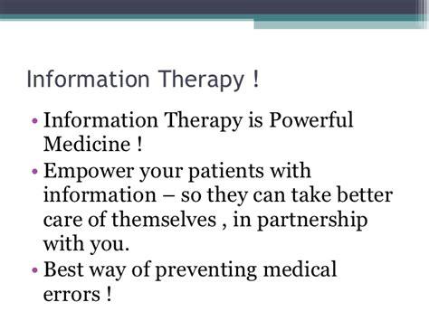 prevent medication errors how to prescribe information therapy to prevent medical errors