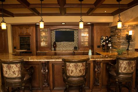 Bi Level Home Interior Decorating tuscan style traditional basement detroit by