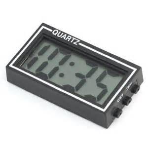 Small Digital Desk Clock Small Digital Lcd Auto Car Truck Dashboard Desk Date Time Calendar Clock Black With Sided