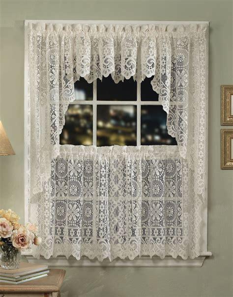 cream kitchen curtains hopewell lace kitchen curtains cream lorraine jabot