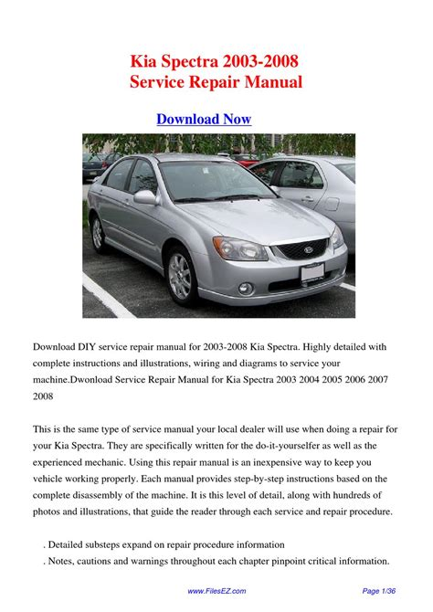 service repair manual free download 2003 kia spectra spare parts catalogs download 2003 2008 kia spectra workshop manual pdf by david zhang issuu