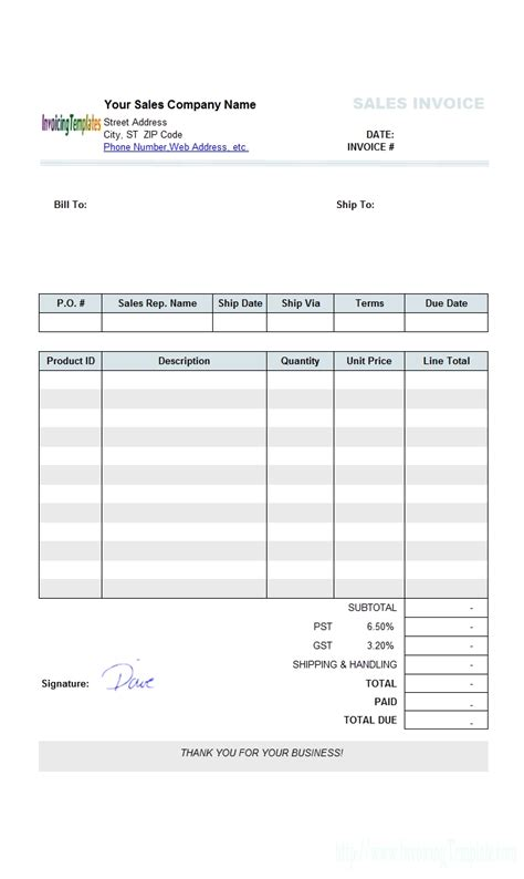 make your own invoice template invoice template ideas