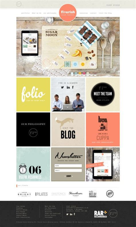 design idea sites 14 best square web design inspiration images on pinterest