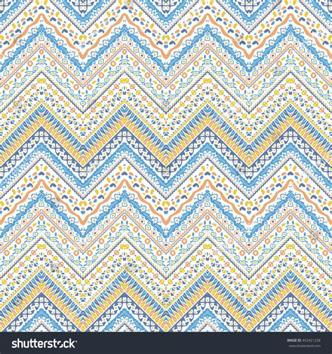 tribal pattern pastel blue vector african style chevron pattern tribal stock vector