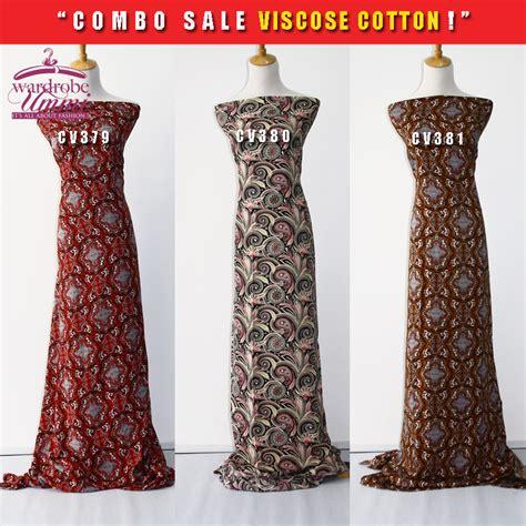 borong viscose fabric kain cotton by wardrobe ummi kain cotton tawaran