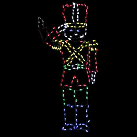 christmas wireframe sculptures tis your season size led animated soldier nutcracker wire frame decoration