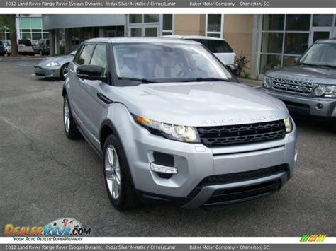 silver range rover evoque 2012 land rover range rover evoque dynamic indus silver