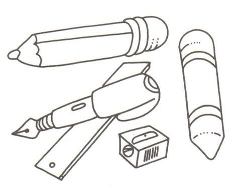 imagenes escolares para iluminar utiles escolares escolares para colorear imagui