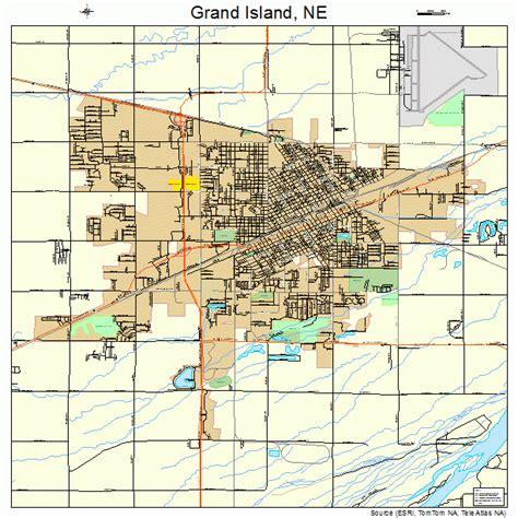map of grand island grand island nebraska map 3119595