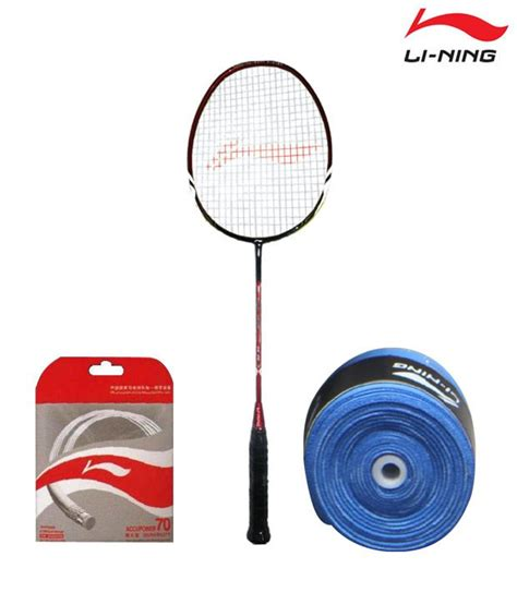 li ning ss 78 badminton racket li ning string ap 70 li ning grip gp 13 buy at best