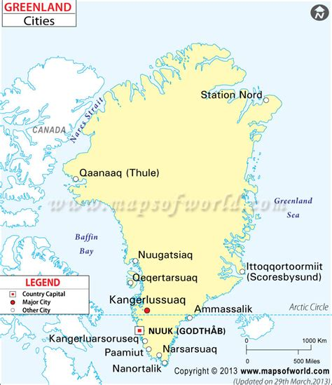 greenland map with cities photos notebooks and maps on