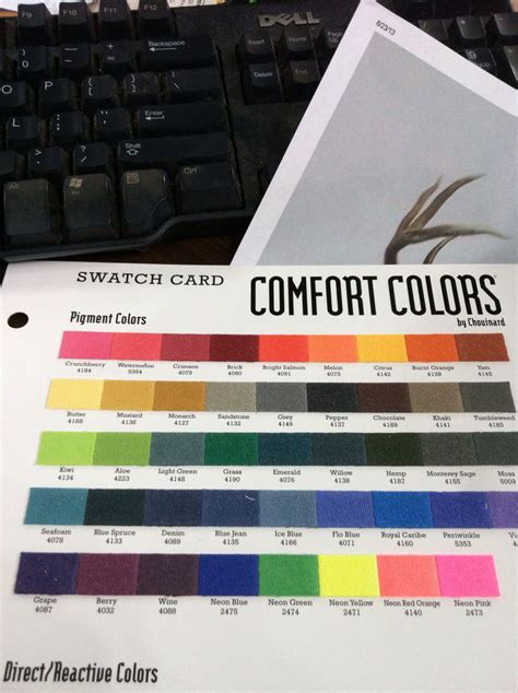 comfort color swatches comfort colors swatch board 2013 tees inc dba