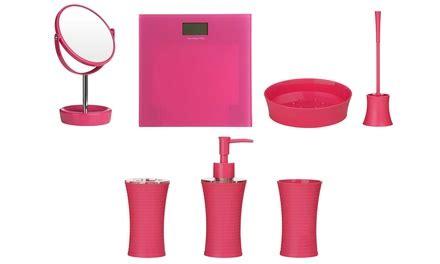 Pink Bathroom Accessories Uk Pink Bathroom Accessories Groupon Goods