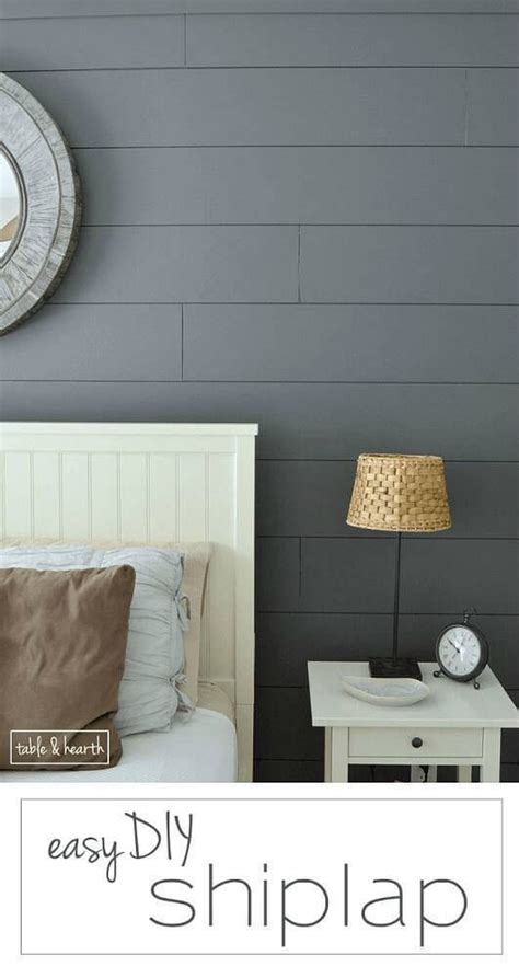 Installing Shiplap Drywall Easy Diy Shiplap Wall Simple Planked Walls And Hearth