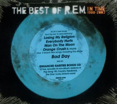 the best of rem album rem in time 1988 2003 us 2 cd album set cd 263793