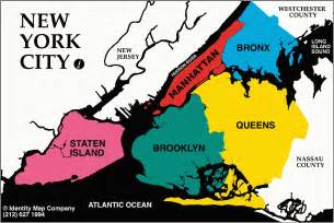 Map Of New York City Boroughs by The Five Boroughs Of New York City Map Collection