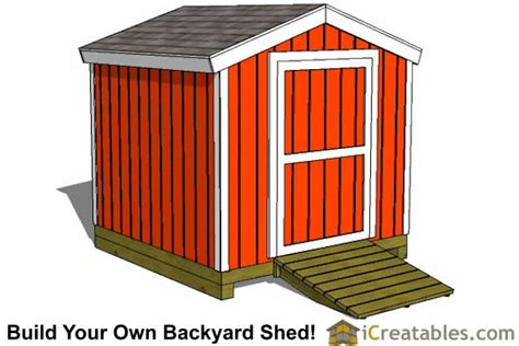 8x8 storage shed plans easy to build designs how to