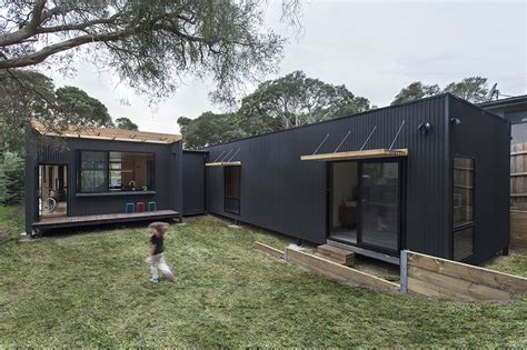 colorbond house designs sustainable prefab beach house in blairgowrie sustainable architecture with warmth