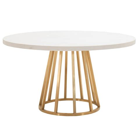 gold base dining table annex 54 quot dining table base