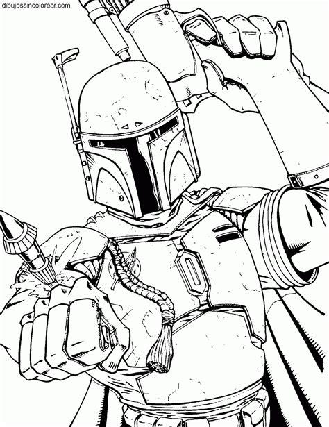 imagenes para colorear star wars dibujos de boba fett star wars la guerra de las