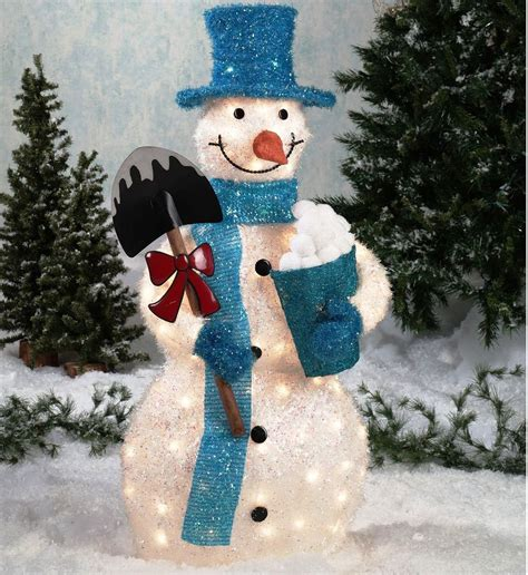 outdoor christmas decorations snowman cool snowmen