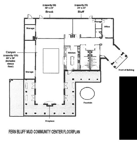 community center floor plan community center pictures floor plan fern bluff