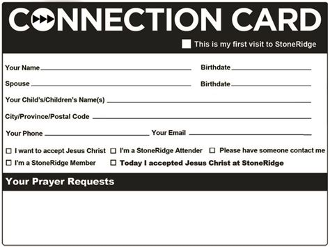 Church Visitor Card Template Downloads by 50 Best Church Connection Cards Images By Evangelismcoach