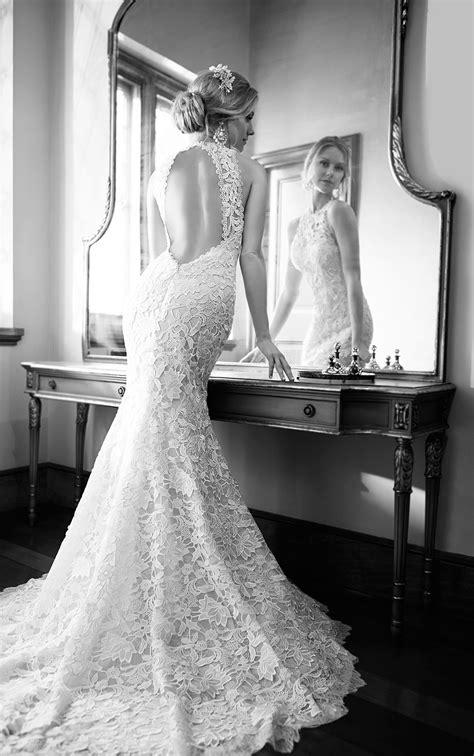 vintage high neck lace wedding dress martina liana