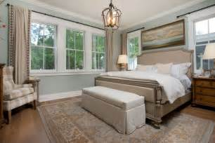Dovetail Sw7018 traditional master bedroom with high ceiling by j banks