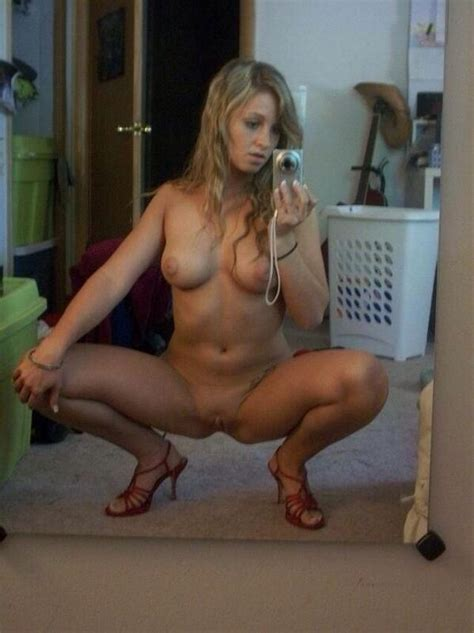 Nasty Blonde Spreading Her Legs Open Wide For You In Selfie Hotmirrorpics Com