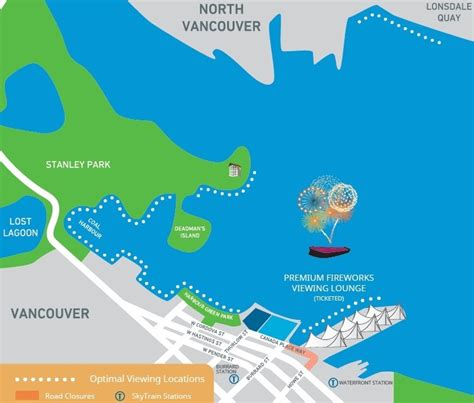new year parade vancouver 2015 map best places to view nye fireworks in vancouver 2018
