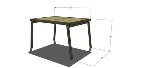 Free Diy Furniture Plans To Build A Cb2 Inspired Cb2 Pocket Dining Table