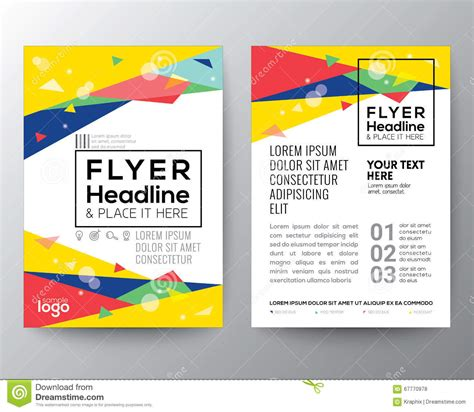 poster abstract layout abstract 80 s style triangle shape poster brochure flyer