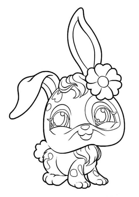 littlest pet shop coloring pages bunny free printable littlest pet shop coloring pages lps