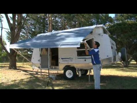 Pop Top Caravan Awnings by Goldstream Rv Pop Top Setting Up Awning
