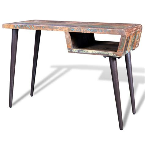 vidaxl co uk reclaimed wood desk with iron legs