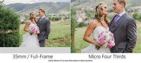 50mm 1 4 On Frame Vs Crop by Frame Vs Micro Four Thirds Same Lens