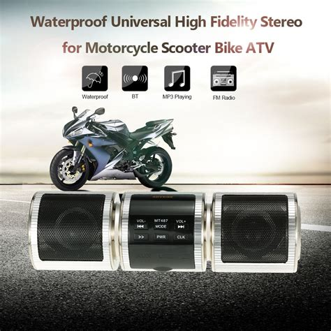 cheap waterproof motorcycle online get cheap motorcycle stereo system aliexpress com
