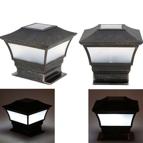 Solar Lights For Driveway Pillars Solar Lights Solar Panel Light Post
