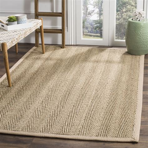 seagrass area rug casual woven sisal beige seagrass square