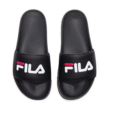 slides shoes for fila quot drifter slides quot sandals black fila white s
