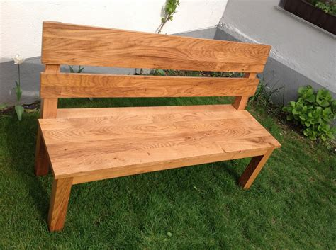 solid oak garden bench solid oak garden bench david m 252 nch