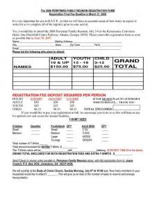 Reunion Registration On Pinterest Family Reunions Reunions And Family Reunion Class Reunion Registration Form Template
